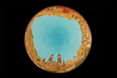 portulanos de la laguna, centro  --  47cm diametro  --  oooleo sobre lienzo