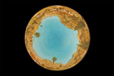 portulanos de la laguna, norte  --  47cm diametro  --  oooleo sobre lienzo
