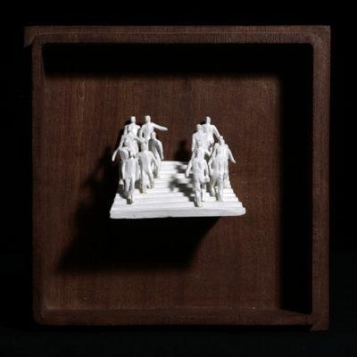 Bb  --  7x4x4cm  --  caja 16x16x7cm  --  ceraaamica y madera