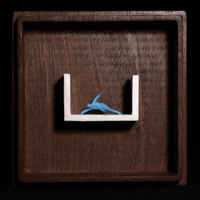 Oo  --  14x4x4cm  --  caja 20x16x7cm  --  ceraaamica y madera