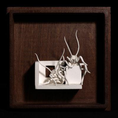 Rr  --  14x4x4cm  --  caja 20x16x7cm  --  ceraaamica y madera